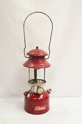 Vintage Coleman Lantern Off Red Color Model 200A 62 NO Shade