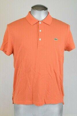 Lacoste polo shirt. 5191  Mens size 4 Pike Orange Cotton