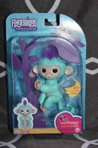 "Brand New Fingerlings Turquoise Monkey ""Zoe"""