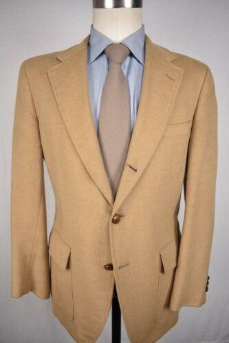 Corbin Solid Light Brown Flannel Wool? 3/2 Roll Sport Coat Size: 40R