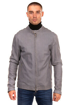 RRP €360 D.A. DANIELE ALESSANDRINI Leather Racer Jacket Size 52 XL Made in Italy