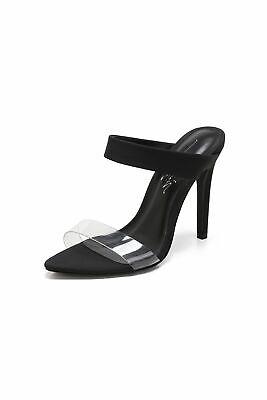 Clear Double Strap Mule High Heels