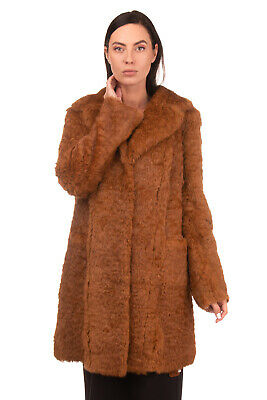 RRP €1200 SALVATORE SANTORO Rabbit Fur Coat Size IT 46 / L Brown Made in Italy