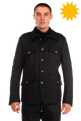 RRP €880 DIESEL BLACK GOLD Wool Military Jacket Size 50 / L Fully Lined Regular