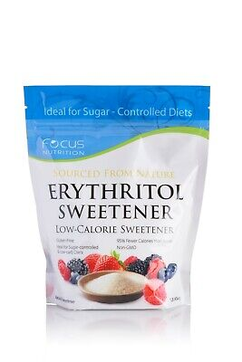 Low Carb Sweetener - Erythritol Sweetener by Focus Nutrition - Non-GMO,  Keto Diet, Low Carb, 1 Pound