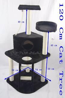 120cmCat Scratcher Kitten Tree House Scratching Post Furniture