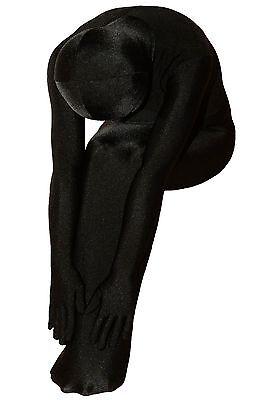 Freak Unisex Black Lycra Elastic Full Bodysuit Mummy Sleepingbag Zentai Suit (Body Suit Sleeping Bag)