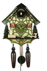 Adolf Herr Quartz Cuckoo Clock - Magic Green AH 35 QM NEW