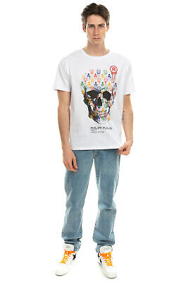 RRP €375 PHILIPP PLEIN T-Shirt Top Size XL LIMITED EDITION Skull Made in Italy