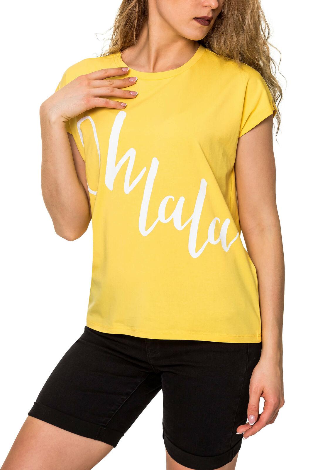 Vero Moda Damen T-Shirt Print Shirt Kurzarmshirt Short Sleeve Cute SALE %