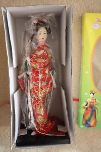 Asian Doll with Red Kimono, on stand,  in box, never opened Joondalup Joondalup Area Preview