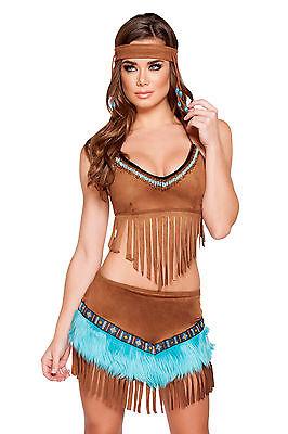 Indianer Kostüm Squaw Native Indian 3 Größen Fasching Karneval - Native Kostüm