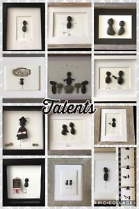 Celebrating talents- Hand made pebble art. Message for prices.