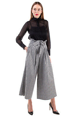 RRP€195 EACH X OTHER Paperbag Trousers Size XS Pleated Cropped Made in Portugal