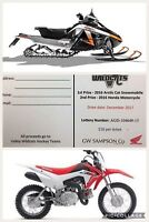 Arctic Cat Snowmobile / Honda Motorcycle... Chance to Win