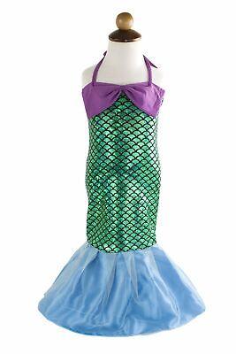 Girls Mermaid Halloween Costume (Kid Girls Lovely Princess Mermaid Tail Dress Birthday Party Halloween Costume)