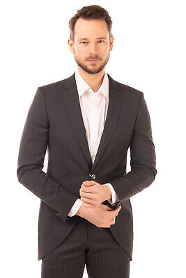 RRP €1070 PAL ZILERI CERIMONIA Wool Single Breasted Suit Size 50 L Made in Italy