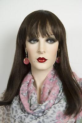Chestnut Brown Brunette Long Medium Straight - Long Brunette Wig