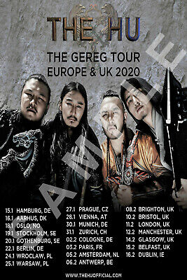 THE HU BAND 12x18 THE GEREG TOUR POSTER 2019 MONGOLIAN ROCK SOLD OUT 2