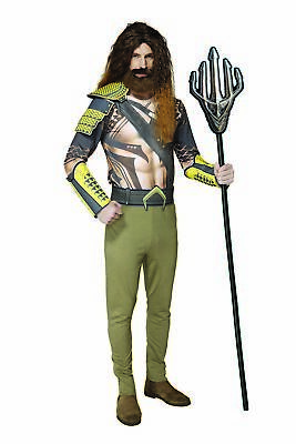 Justice League Costumes (Mens Aquaman Justice League Cosplay Costume Vivid Character)