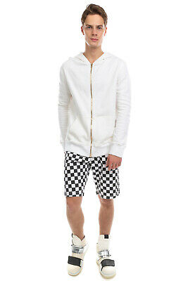 RRP €460 IH NOM UH NIT Hoodie Size M White Zip Front Long Sleeve Made in Italy
