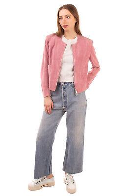 RRP €945 SYLVIE SCHIMMEL Suede Leather Jacket Size 44 / XXL Unlined Full Zip