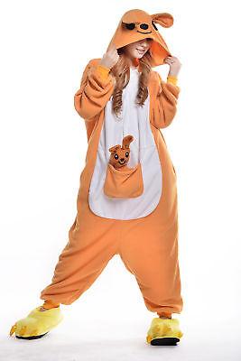 Christmas Women Men Adult  Pajamas kangaroo Animal Kigurumi Cosplay Costumes (Kangaroo Costume Adult)
