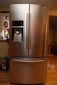 """Samsung 33"""" Stainless Steel French Door Fridge For Sale"""