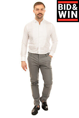 RRP €115 ENTRE AMIS Chino Trousers Size 36 Stretch Flat Front Made in Italy