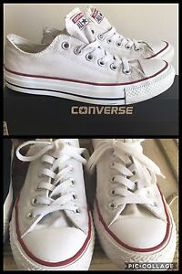 2 pairs of converse for sale. Black pair. White pair