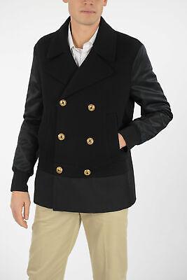 NEIL BARRETT men Jackets Caban Coat Slim Fit Double Breasted Black 50 (Italy ...