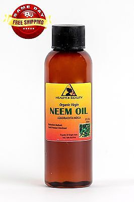 NEEM OIL ORGANIC UNREFINED CONCENTRATE VIRGIN COLD PRESSED RAW PURE 2 OZ