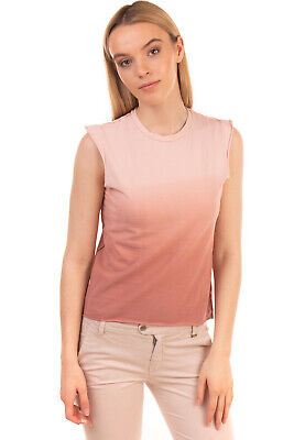 RRP €245 JO NO FUI Top Size L Stretch Dip Dye Inverted Seam Made in Italy
