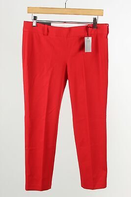 J.Crew Stretch Winnie City Fit Red Cotton Blend Women's Fitted Leg Pants Size 6P