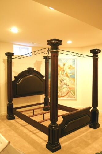 Wooden Canopy Queen Bed Frame -- Local Pick Up Only In Maryland
