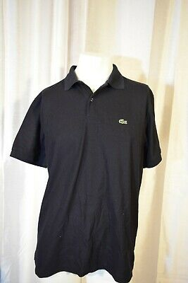 Lacoste Mens Size 6 Black Short Sleeve Polo Shirt Alligator Tennis Golf France for sale  Trenton