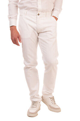 RRP €140 JACOB COHEN ACADEMY Chino Trousers Size 34 White Zip Fly