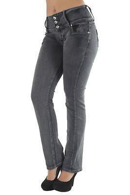 High waist Colombian style Butt lift stretch denim Boot Leg jeans