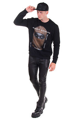 RRP €470 IH NOM UH NIT Sweatshirt Size XS Coated 'RUNWAY DIVISION' Made in Italy