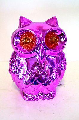Halloween Treat Gift Baskets (PINK SHINY ILLUMINATED EYES OWL HALLOWEEN DECORATION TRICK TREAT FALL)