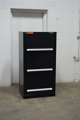 Used Stanley Vidmar 3 Drawer Shallow Depth Cabinet Industrial Tool Storage 1568