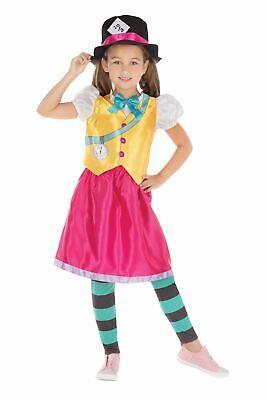 Mad Hatter Mädchen, Groß, Mädchen Buchwoche - Mädchen Mad Hatter Kostüm