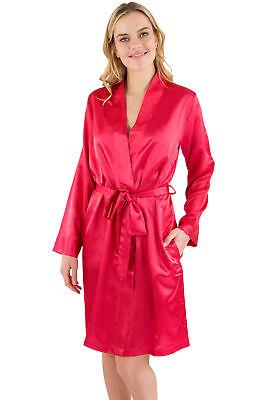 Intimo Womens Satin Kimono Robe