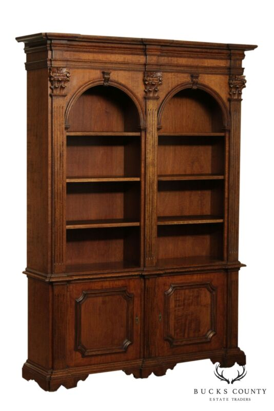 Italian Double Arch Architectural Bookcase