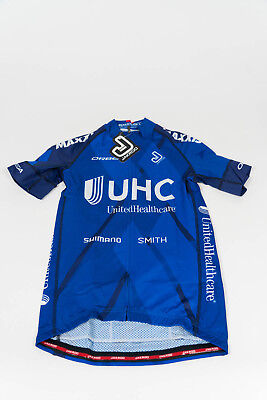 New 2017 Mens Jakroo Uhc Pro Cycling Nova 1 Ss Team Jersey  Blue  Size Small