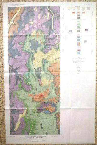 USGS ABAJO MOUNTAINS, Utah MINES GEOLOGY - URANIUM, GOLD, COPPER - SCARCE1964