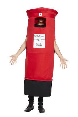 Herren Post Kiste Kostüm Erwachsene Damen Königliches Rot Neuheit Hirsch Outfit
