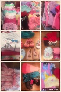 Baby/toddler girl clothing lot mixed sizes