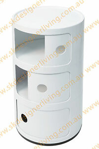 SKDL Replica Kartell Componibili Round Tower - 3 Tier - WHITE