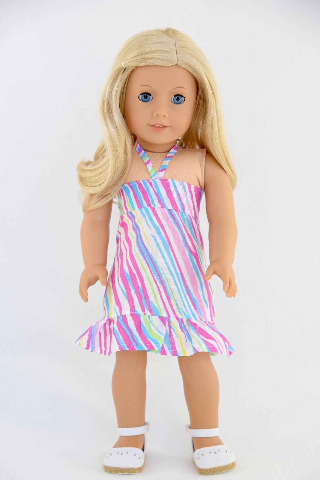 Summer Sundress Multicolor American Made Doll Clothes For 18